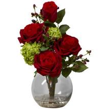 Rose & Hydrangea Silk Flower Arrangement - $64.99