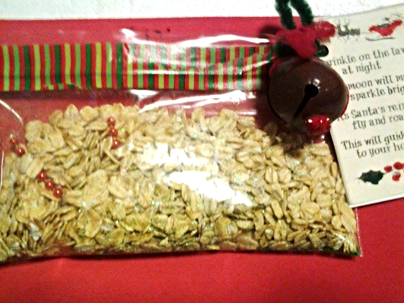 Magic Reindeer Food Christmas Eve Tradition Santa and Rudolph for kids