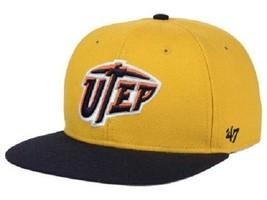 "UTEP Miners NCAA 47 Brand ""Sure Shot"" Flat Bill Snapback Hat - $17.77"