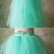 Adult Princess Skirt Mint Green Aqua Long Tulle Skirt Prom Skirt Plus Size NWT image 6