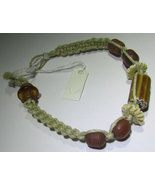 Africa Hand Made Woven Trade Bead  Bracelet 8in - $11.50