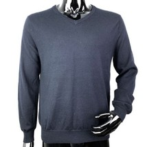 J Crew Mens Medium Blue Long Sleeve V-Neck Sweater - $16.31