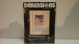 Vintage 1986 Dimensions Counted Cross Stitch Kit Childs Prayer #3618 Size 9x12 - $19.99