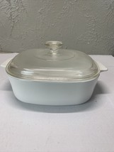 Corning Ware Winter Frost Just White Casserole A-2-B, 2 Liter w/ Pyrex Lid - $17.16
