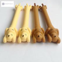 Kawaii Sleeping Dog Silicone Velvet Gel Pen Rollerball Pen Student Stati... - $4.03