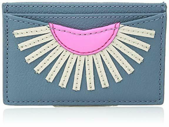 NWT Fossil Women's Gift Card Case Wallet, Faded Indigo