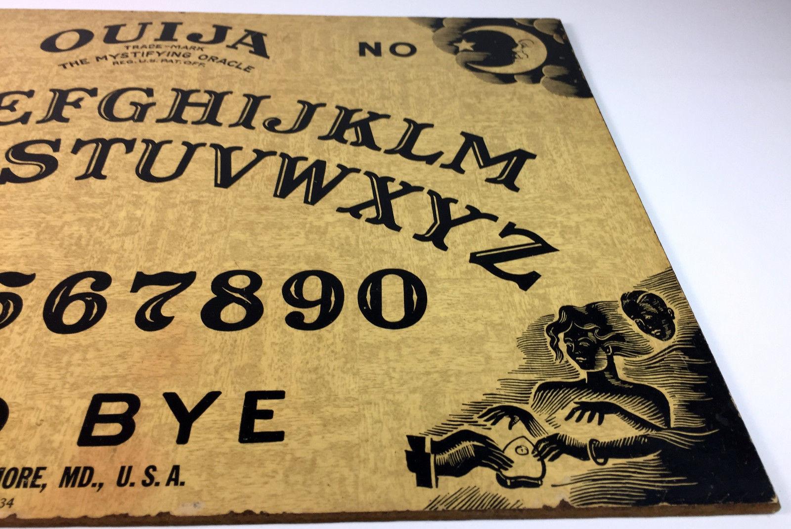 Vintage Ouija Board Game William Fuld w/Wood Planchette in BOX c1938-1945