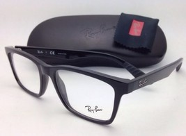New RAY-BAN Rx-able Eyeglasses RB 7025 2000 55-17 Black Frames with Demo Lenses