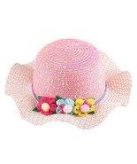 Gentle Meow Straw Hat Children Sunscreen Hat Beach Hat Pretty Girl Wide ... - $13.70