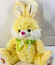 Dan Dee Collector's Choice Plush Yellow Easter Bunny Rabbit Green Ribbon... - $29.58