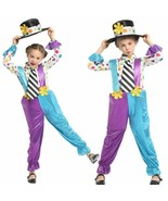 Clown Role Play Naughty Harlequin Cosplay Fancy  Purim Carnival Party Ma... - $33.28