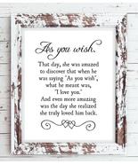 AS YOU WISH - Princess Bride Movie Quote 8x10 Wall Art Poster PRINT - NO... - $7.00+