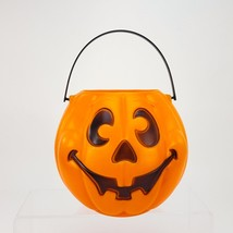 "Halloween Blow Mold Pumpkin 8"" Bucket Trick Treat Pail Grand Venture 199... - €12,32 EUR"