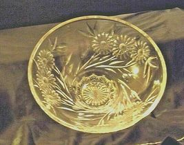 Crystal Floral Serving Bowl Heavy Beautiful Large AA19-LD11935 Vintage image 5