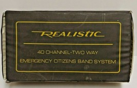 Realistic 40 Channel Emergency Radio System CB Mobile Transceiver TRC-41... - $24.30