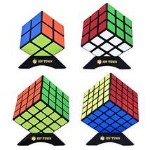 JoyTown Speed Cube Set of 4 Bundle Pack, 2x2 3x3 4x4 5x5 Puzzle Cube, Sp... - $21.19