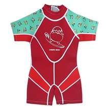 Kiddies Kids One Piece UV Protection Thermal Swimsuit, Age 6-8, Red - $49.53