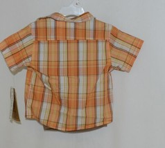 Little Rebels Boys 3 Piece Orange Brown Monkey Business Short Set Size 18 months image 2