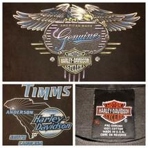 Vtg 90s Harley Davidson USA T-Shirt Timms Anderson Sc Bullig Motorräder ... - $42.25