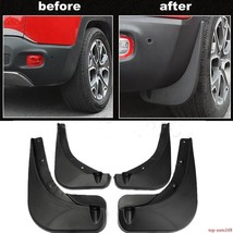 MUD FLAPS FOR Jeep Renegade 2015 2016 2017 Front&Rear Deluxe Molded Spla... - $77.00