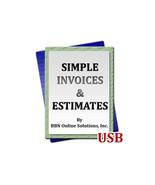 Simple Invoices and Estimates Program for Windows Computers PC Quotes Bi... - $14.64
