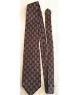 Robert Talbott Tie Burgundy Geometric Oval Hand Sewn Silk Necktie 57 x 3.75 - $11.95