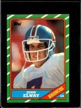 1986 Topps #112 John Elway Nm+ Hof Broncos *A27394 - $2.72
