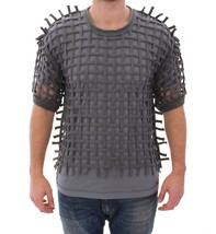 Dolce & Gabbana Gray Runway Catwalk Nets Knitted Sweater - $522.70