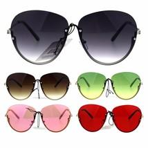Womens Rimless Butterfly Halfrim Diva Designer Sunglasses - £9.29 GBP