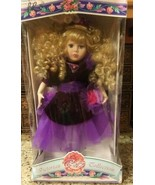 """1997 VICTORIAN ROSE COLLECTION item # 11397 Porcelain Doll 17"""" By Meliss... - $19.79"""