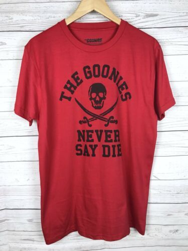 The Goonies Never Say Die T-Shirt Men's M Red Ripple Junction Loot Crate