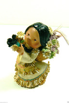Friends of Feather by Enesco 1994 Smile Gatherer Indian Girl w Flower Figurine - $20.99