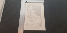 1900s Mrs Leonidas Hubbard's Route Through Labrador B&W Map Bormay & Co ... - $19.32