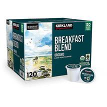 New Kirkland Breakfast Blend Light Roast Coffee Keurig 120 K-Cup Pods Exp 03/21 image 1