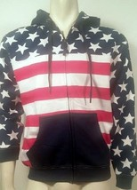 AMERICAN FLAG USA FREEDOM PATRIOT MILITARY PRIDE ARMY SWEATER ZIPPER ZIP... - $39.99