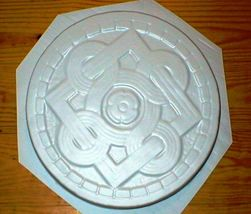 "1 DIY 14""x2"" ROUND CELTIC STEPPING STONE MOLD MAKE CRAFTS AT HOME FOR $1.00 EACH image 4"