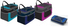 6 Can, Collapsible, Insulated Lunch Bag Cooler Shoulder Strap mesh pockets - £12.28 GBP