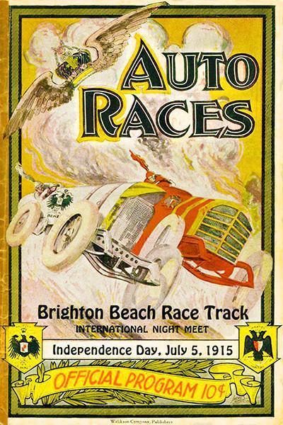 Primary image for 1915 Auto Races - Brighton Beach Race Track  - Program Cover Poster