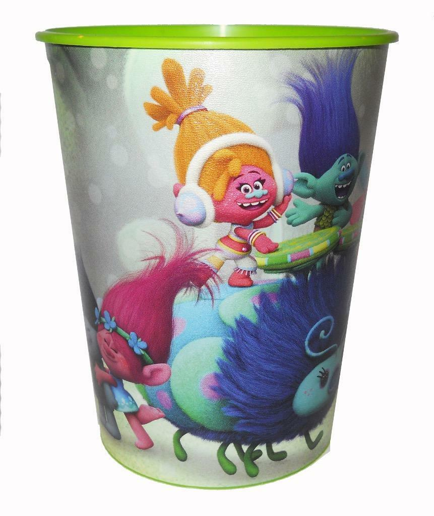 Primary image for Trolls Fun Fest Stadium Keepsake Cup 16oz Plastic 1 Ea Birthday Party Supplies