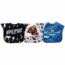 Tiny Twinkle Mess-Proof Easy Bib 3 Pack (Boy)