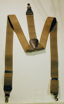 "Trafalgar Suspenders- Mens Elastic - Clip on ends - Tan - 2"" wide - $12.55"