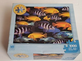 """Puzzler's Choice School of Fish 1000 Piece Puzzle 20 1/8"""" x 26 3/16"""" Fac... - $18.69"""