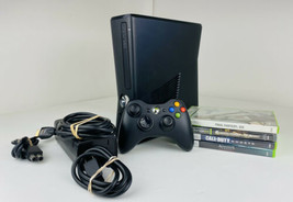 Microsoft Xbox 360 Slim Console Bundle w/ Controller & Games Tested- 20GB - $118.79