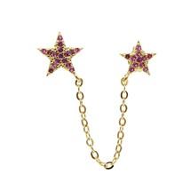 Summer beach bohemian sea Star chain earring for women girls 2 pierce li... - $16.69