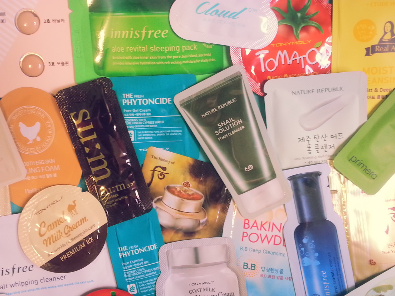 160-Piece Korean Skincare Samples Variety Fun Pack