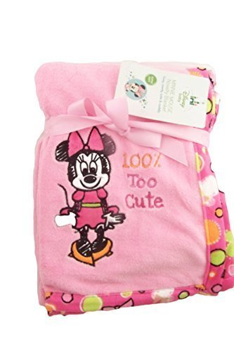 Disney Minnie Mouse Novelty Baby Blanket Fleece, gs70499 by Cudlie - $12.99