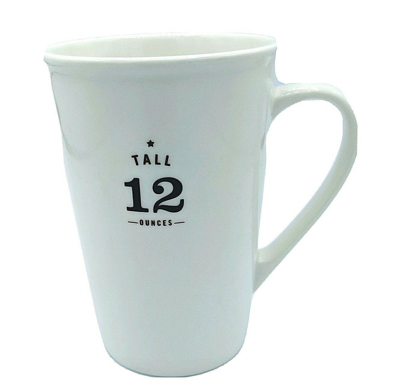 Starbucks 2010 TALL 12 OUNCES White Ceramic Coffee Mug w/ Brown Letters Est.1971 - $18.95
