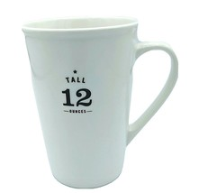 Starbucks 2010 TALL 12 OUNCES White Ceramic Coffee Mug w/ Brown Letters ... - $18.95