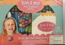 Stitch & Wear Floss Needlepoint Jewelry Kit 1306 105 Skeins Embroidery F... - $17.61