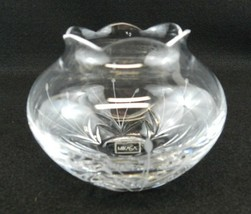 """Mikasa Candle Holder Petite Points Clear Cut Etched Glass 3-1/4"""" High - $15.99"""